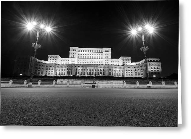 Parliament Building Greeting Card by Ioan Panaite