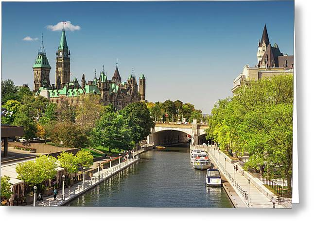 Parliament Building With Peace Tower Greeting Card