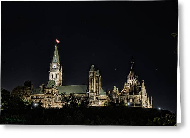 Greeting Card featuring the photograph Parliament From The Park by Robert Culver