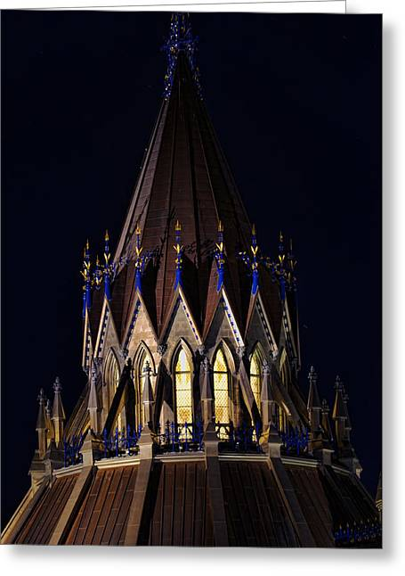 Greeting Card featuring the photograph Parliament Pinnacle  by Robert Culver