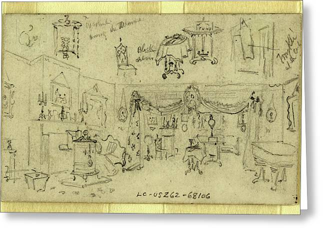 Parlor, Abraham Lincoln Home, Springfield Greeting Card