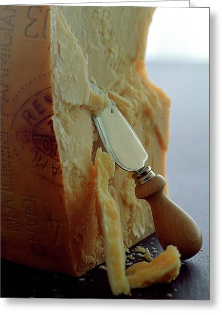 Parmigiano-reggiano Cheese Greeting Card by Romulo Yanes