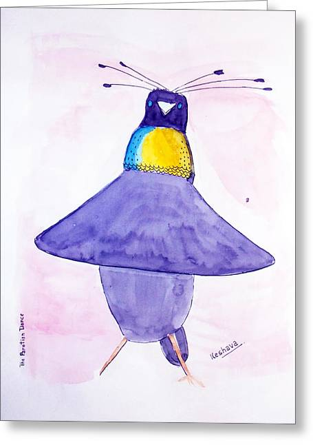 Parotia Dancing - Bird Of Paradise Greeting Card