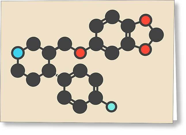 Paroxetine Antidepressant Drug Molecule Greeting Card by Molekuul