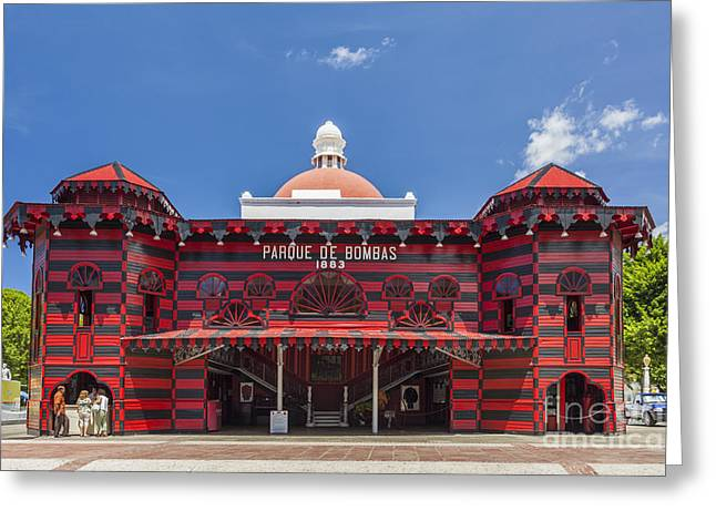 Parque De Bombas Fire Station In Ponce Puerto Rico Greeting Card