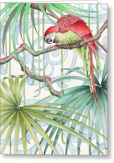 Parrot, 2008 Greeting Card by Jenny Barnard