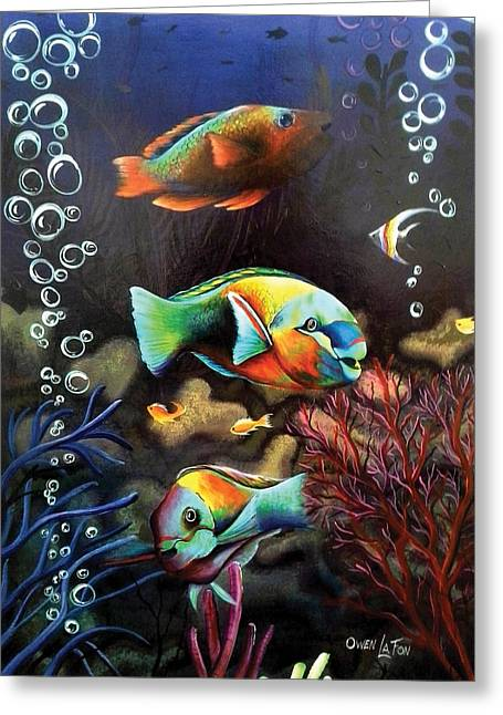 Parrot Fish Greeting Card