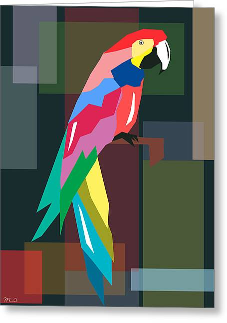Parrot Greeting Card by Mark Ashkenazi
