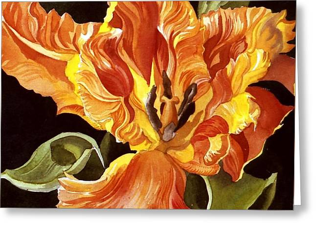 Parrot Tulip Greeting Card