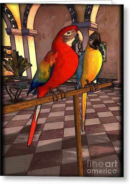 Parrots1 Greeting Card