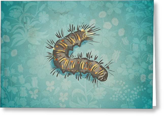 Part 1 - Caterpillar Greeting Card by Jack Myers