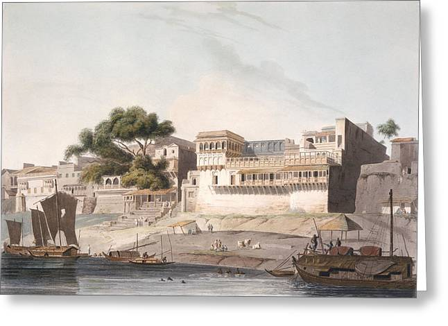 Part Of The City Of Patna, On The River Greeting Card by Thomas Daniell