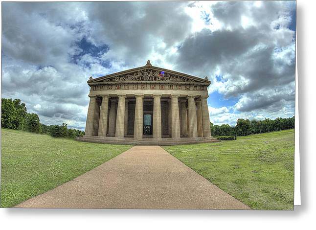 Parthenon Greeting Card by Honour Hall
