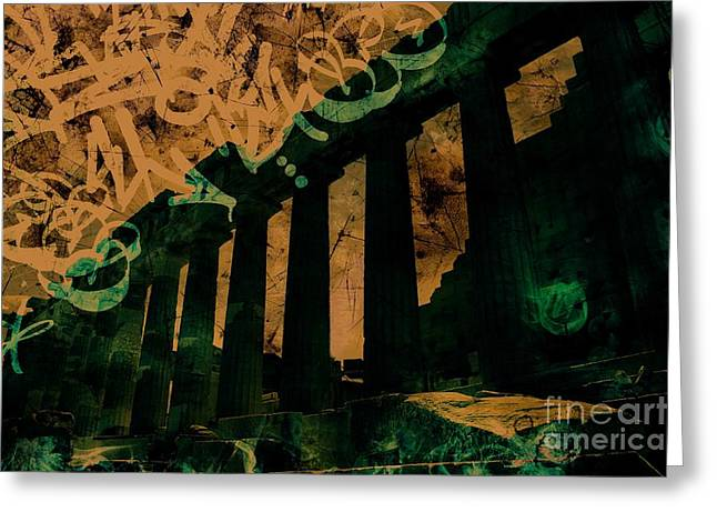 Parthenon In Athens Greece Greeting Card
