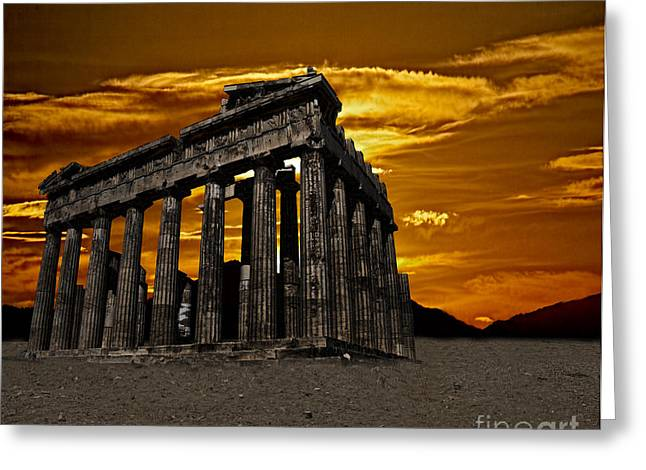 Parthenon Greeting Card