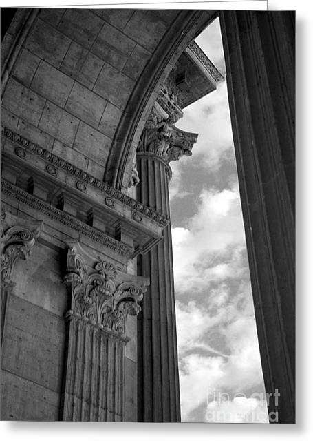Cornices And Columns Greeting Card