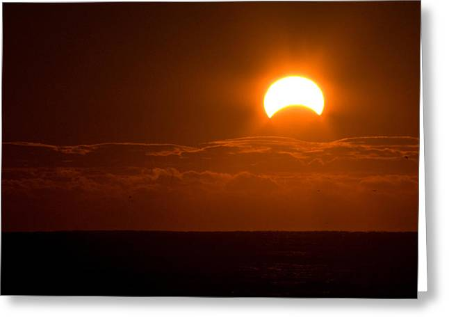Partial  Eclipse Of The Sun Greeting Card