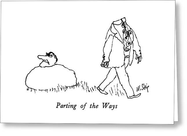 Parting Of The Ways Greeting Card