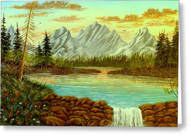 Parting Waters Greeting Card by David Bentley