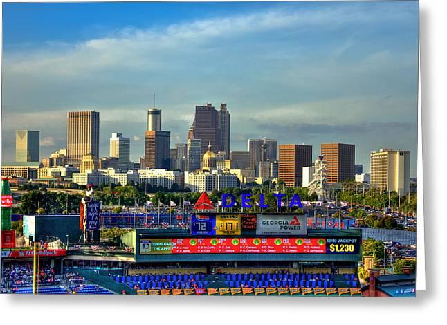 Atlanta Braves Baseball Turner Field  Greeting Card