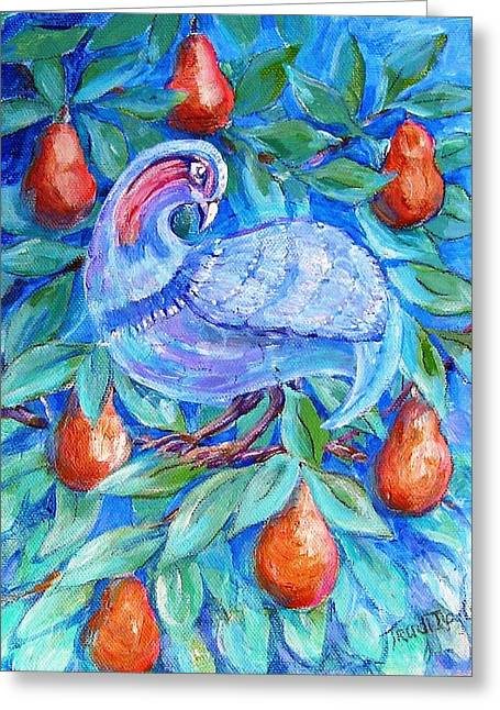 Partridge In A Pear Tree  Greeting Card by Trudi Doyle