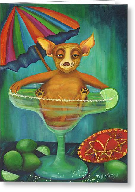 Party Animal  Ay Chihuahua Greeting Card by Debbie McCulley