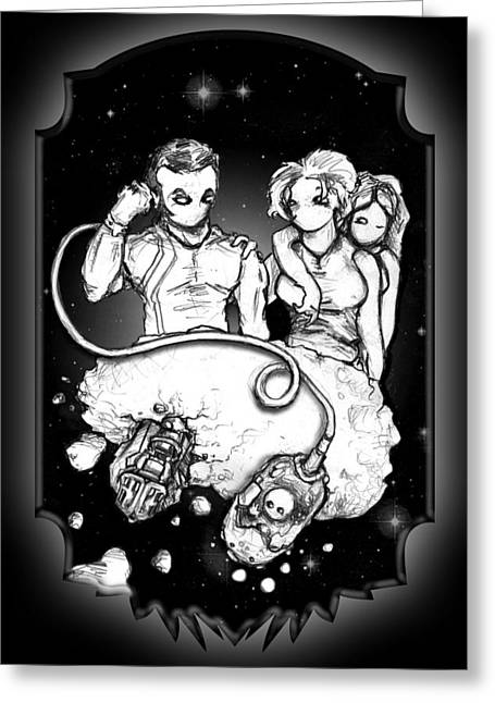 Party At The Phaedrus 5 Galleria - Illustration Greeting Card by Matt Edginton