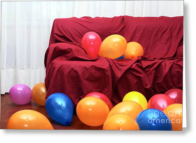 Party Balloons Greeting Card by Carlos Caetano