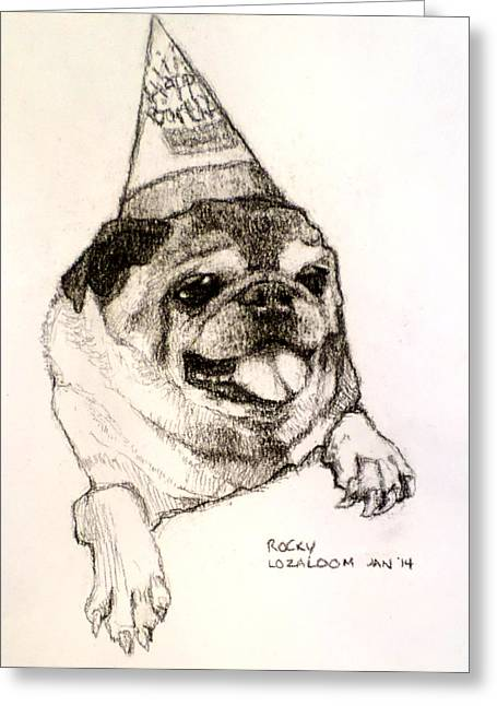 Party Boy Rocky Greeting Card