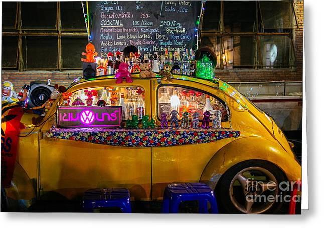Party Bug Greeting Card by Dean Harte