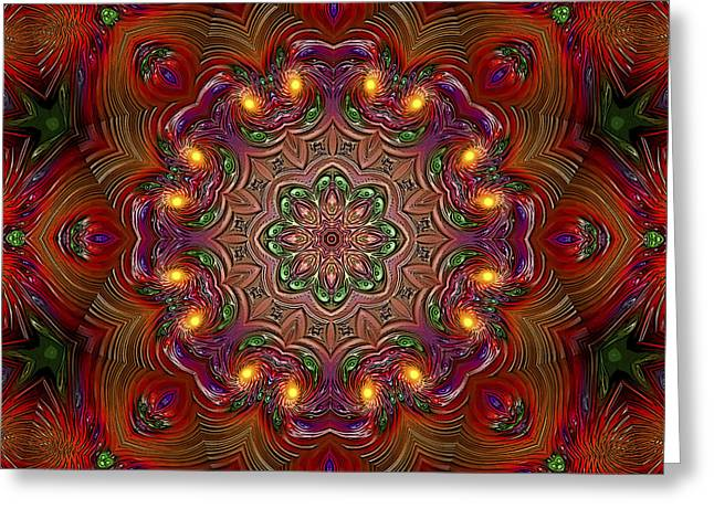Greeting Card featuring the digital art Party Time 3 D Art by Hanza Turgul