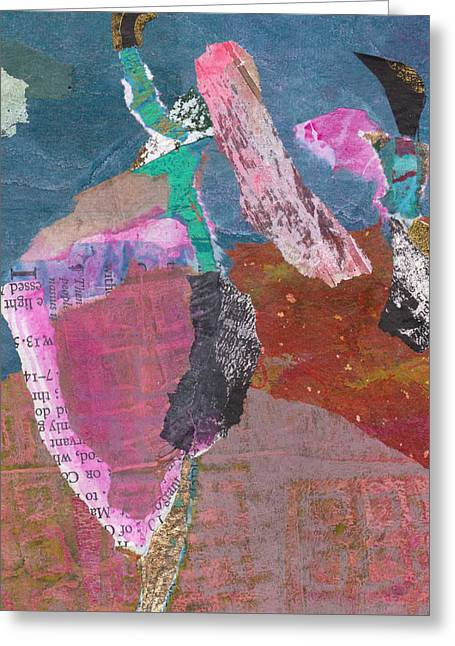 Greeting Card featuring the mixed media Pas De Deux by Catherine Redmayne