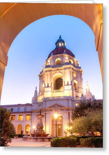 Pasadena City Hall Greeting Card by Aron Kearney