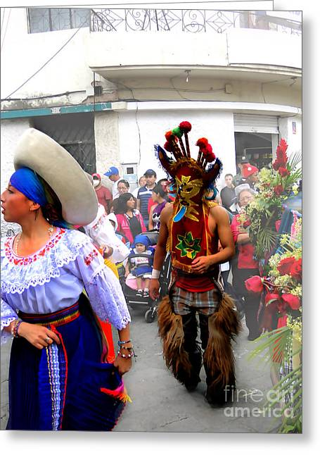 Pase Del Nino Performers Greeting Card