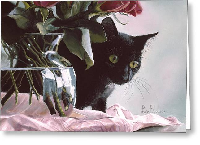 Pasha Greeting Card by Lucie Bilodeau