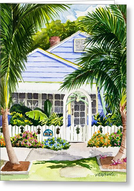 Pass-a-grille Cottage Watercolor Greeting Card