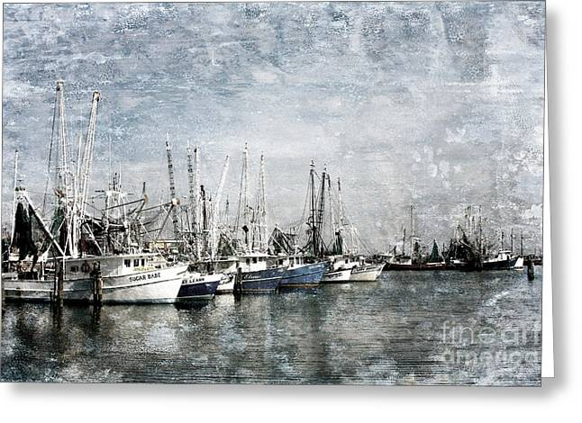 Pass Christian Harbor Greeting Card by Joan McCool