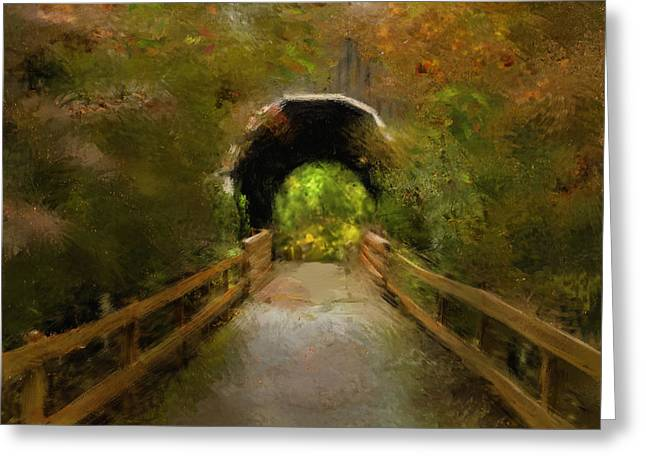 Pass Creek Bridge Greeting Card