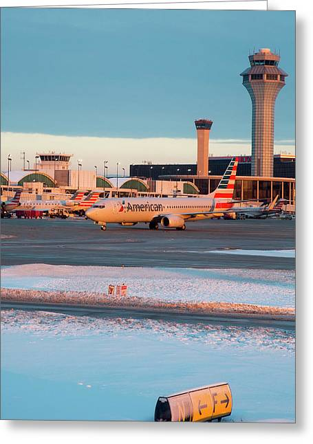 Passenger Airliner Taxiing Greeting Card by Jim West