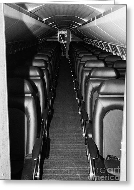 passenger cabin of the British Airways Concorde Greeting Card by Joe Fox