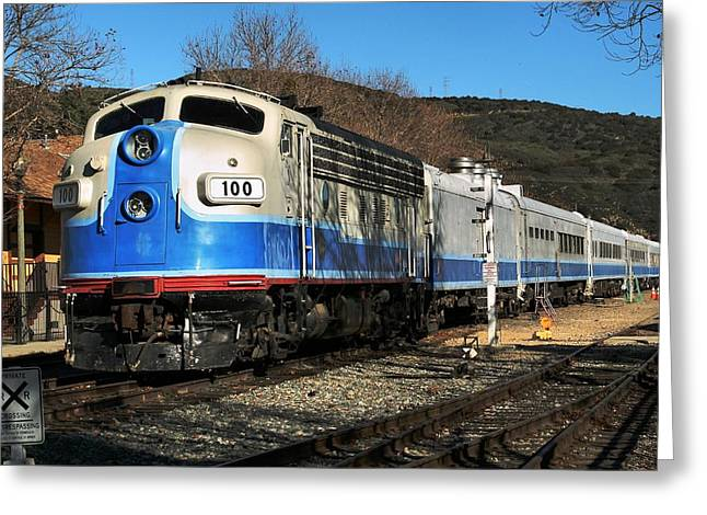 Greeting Card featuring the photograph Passenger Train by Michael Gordon