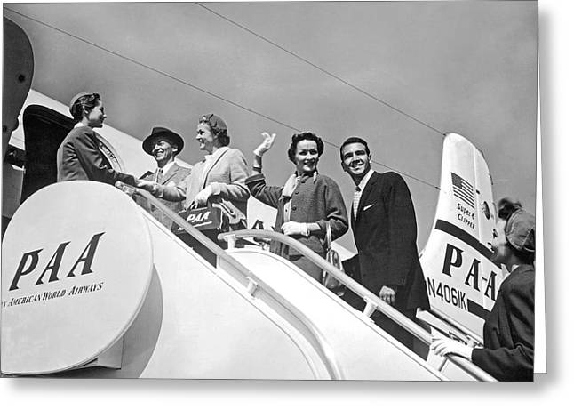 Passengers Board Panam Clipper Greeting Card