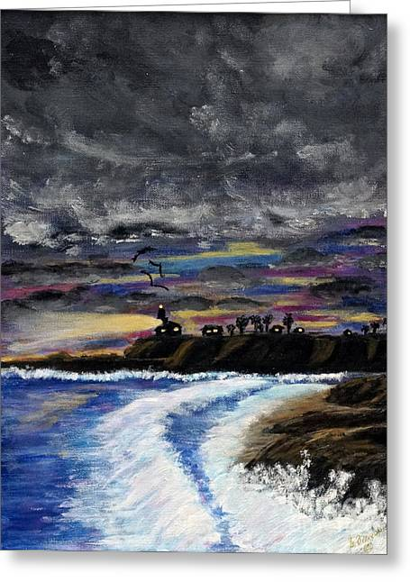 Greeting Card featuring the painting Passing Storm by Gary Brandes