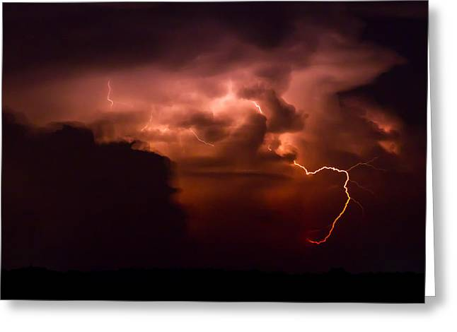 Passing Storm Greeting Card by Nathaniel Kidd