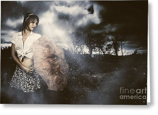 Passing Storm Greeting Card by Jorgo Photography - Wall Art Gallery