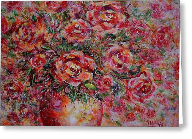 Passion Bouquet Greeting Card by Natalie Holland