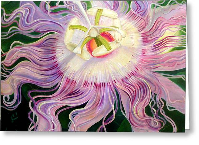 Passion Flower Greeting Card by Anne Cameron Cutri