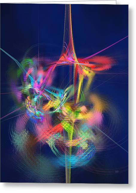 Passion Nectar - Circling The Flower Of Paradise Greeting Card