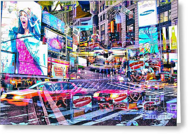 Passion Nyc Times Square No 3 Greeting Card by Sabine Jacobs