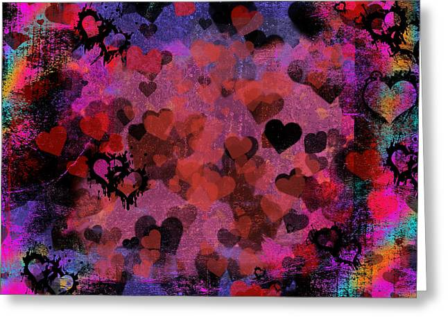 Passionate Hearts I Greeting Card